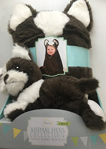 Little Miracles Animal Hugs Collection Hooded Blanket with Plush Dog