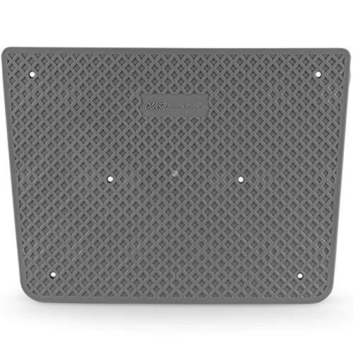 wellenshop Nautika Heckschutzplatte für Außenborder 300 x 220 mm Kunststoff Trapezförmig, Grau, Schwarz, Weiß Schlauchboot Spiegelverstärkung Heckschutz