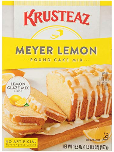 Krusteaz Meyer Lemon Pound Cake Mix with Lemon Glaze Mix, 16.5 OZ (Pack of 2)
