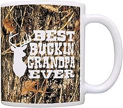 Grandpa Gifts Hunting Camo Best Buckin' Grandpa Ever Gift Coffee Mug Tea Cup Camo
