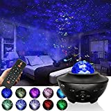 Starry Night Light Projector for Bedroom,Sky Galaxy Projector Ocean Wave Projector Light with Remote Control & Bluetooth Music Speaker, As Gifts for Birthday Party Bedroom……