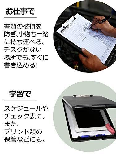 Panavageクリップボードフォルダa4ファイルボードバインダー会議用パッド半透明