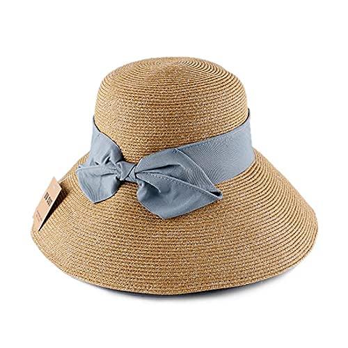 Maple Leaf Sombrero De Paja con Visera para Mujer, Sombrero De Pescador Plegable, Sombrero...