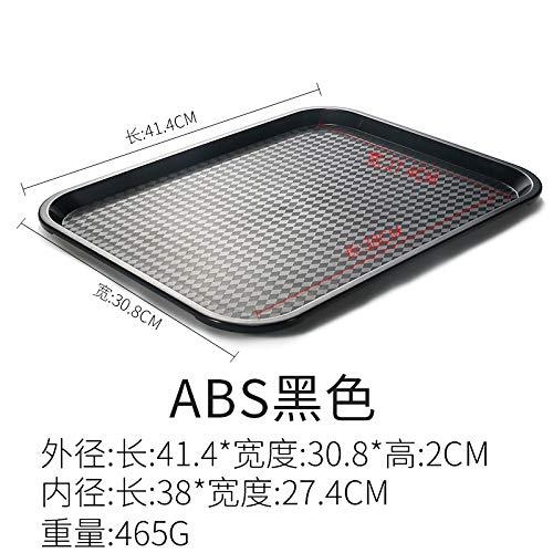 GYHJG Tablett Rechteckigen Kunststoffplatte Burger Laden Tablett Kommerziellen Fast-Food-Geschirr 41,4X30,8X2Cm