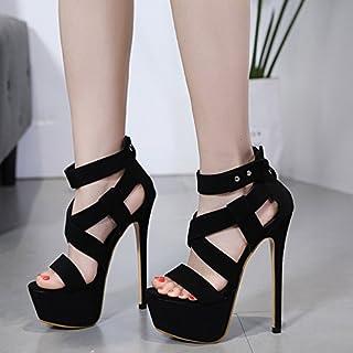 67fe09c06b KPHY Pretty/Zapatos de mujer/Verano Super Tacones Sandalias Sexy Buen Tacon  Zapatos De