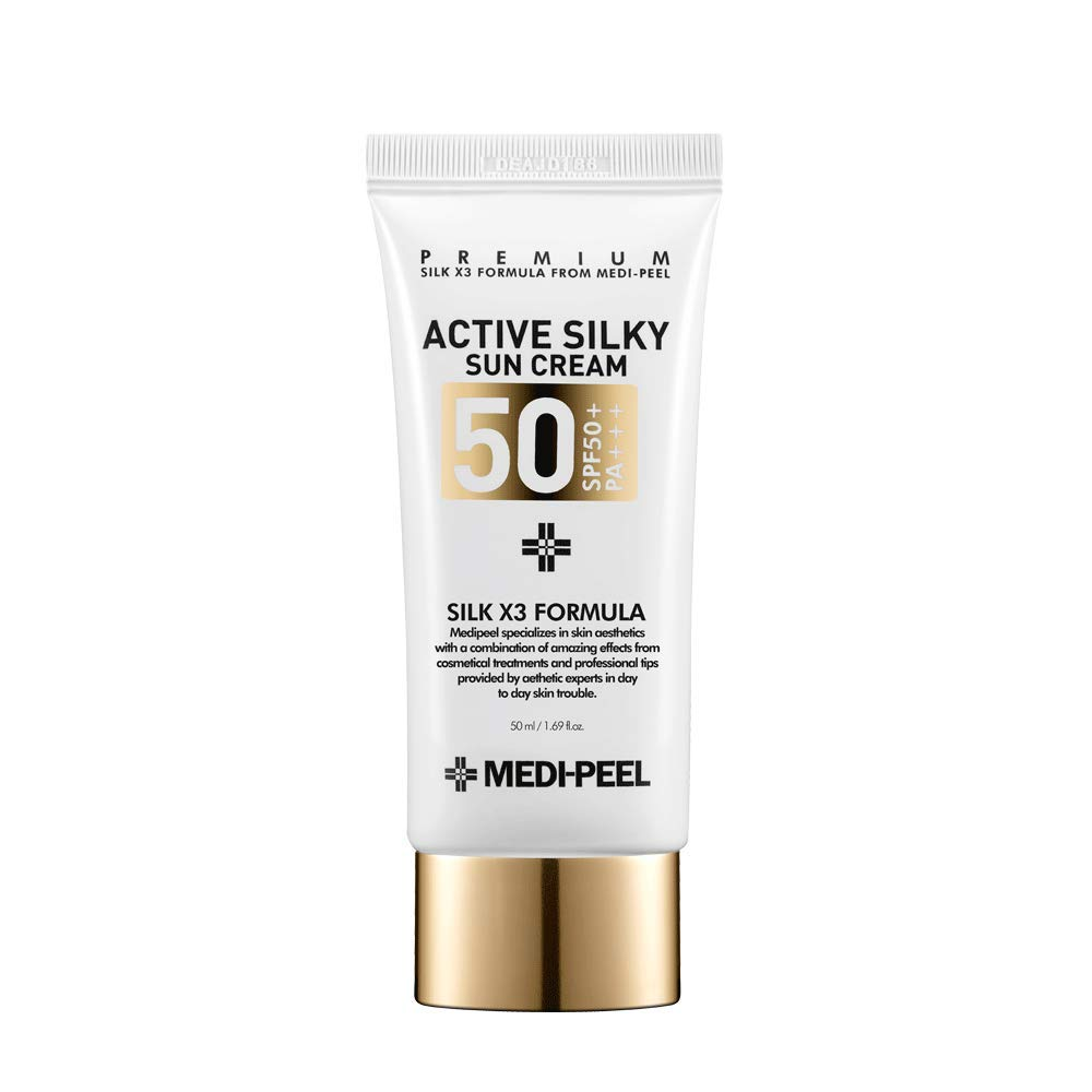 Medi-Peel Active Silky Suncream SPF50+ Clearance SALE Limited time Korean fl Max 62% OFF 1.69 PA+++ oz.