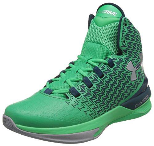 Under Armour ClutchFit Drive 3 Men's Basketball Shoes (Gamma Green, Nova Teal, Silver - Size 9)