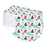 CARDIGO 50 Piezas De para Niños Niñas, Transpirables con Elástico para Las Orejas para Navidad Impresión Seguro Suave Personal Diaria