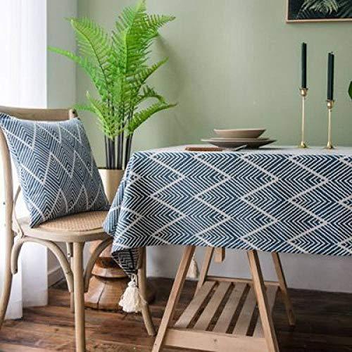 SZTTDM Baumwolle Und Leinen Couchtisch Tischmatte Wasserdicht öL Schreibtisch Mahjong Nachttisch Picknicktisch Stoff Abdecktuch,135x220cm