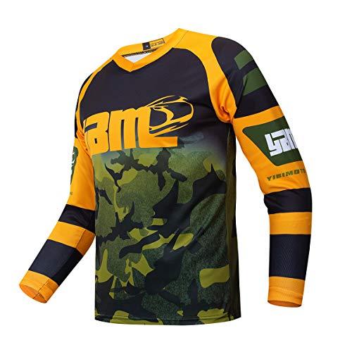 YIBIMOTTO Camiseta Corta de Bicicleta de montaña para Hombre Pantalones Cortos de Ciclismo MTB Secado respiratorio