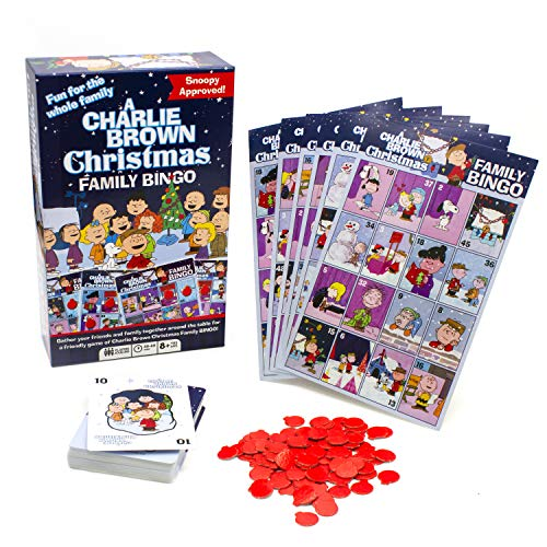 Aquarius Charlie Brown Christmas Family Bingo