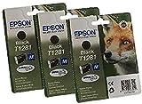 Epson T1281x3 - Pack de 3 cartuchos de tinta para impresoras Epson, color negro, Ya disponible en Amazon Dash Replenishment