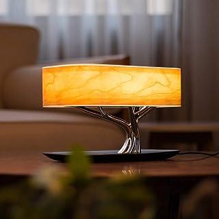 GJCrafts Lámpara Tree Table Speaker Controles táctiles regulables Puerto del cargador USB Lámpara de mesa de noche Niños, Regalos de San Valentín para Sala de Estar Oficina