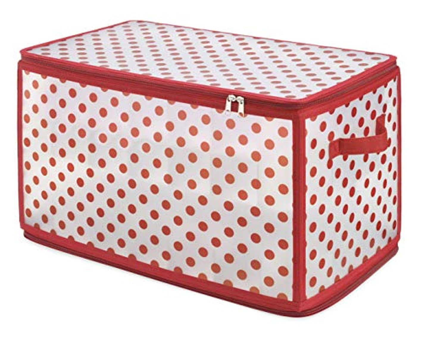 Whitmor Christmas Large Ornament Storage Zip Chest with 112 Compartments, Multicolor
