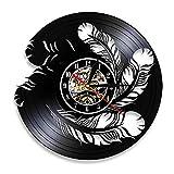 LKJHGU Toba Reloj de Pared de Vinilo Arte Interior Natural Disco de Vinilo Reloj de Pared de Vinilo Reloj de Pared de Vinilo Moderno Decoración de Mascotas Regalo de diseño Moderno