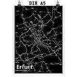 Mr. & Mrs. Panda Poster DIN A5 Stadt Erfurt Stadt Black -