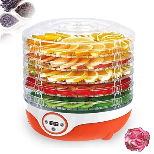 Fantastic Deal! Food dehydrator, BPA, dehydrator Eéctrico LCD, 35 ° C-70 ° C, and Automatic Off Silent, dishwasher, 5 Shelves