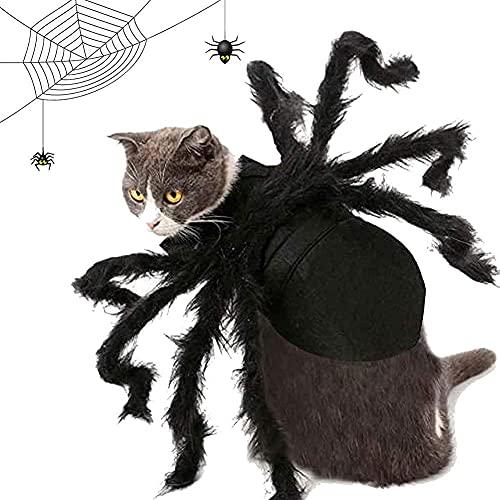 MOTOY Disfraz de araña para Halloween, gato, perro, araña, cosplay para Halloween, lazos, perros, gatos, disfraz de Hoilday