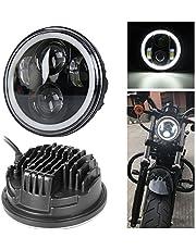 Argento Fari Alogeni Da 6 Pollici Con Copertura Per Griglia Per Moto In Metallo 12V Fari Rotondi Per Indicatori Di Direzione Per Sportster