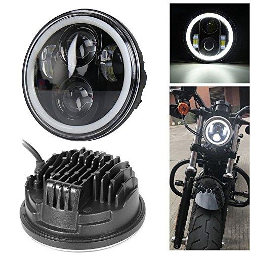 \'Neue Typ 5.75 5 3/4 Zoll LED Scheinwerfer Engel Augen für Halo Motorrad (EIN Jahr Garantie)