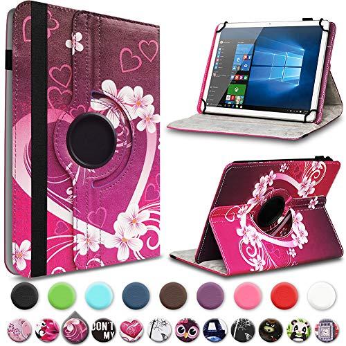 UC-Express Tablet Hülle für Blaupunkt Atlantis A10.303 Tasche Schutzhülle Case Schutz Cover 360° Drehbar 10 Zoll Etui, Farbe:Motiv 2