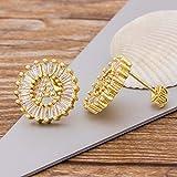 CXWK Pendientes de Letra Inicial Regalo Personal para Mujer Pendientes de botón de Oro Rosa Blanco con Lindo Alfabeto, P, Plata