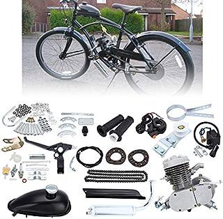 comprar comparacion Ambienceo 80cc 2 tiempos Ciclo de pedal Gasolina Gas Motor Kit de conversión de bicicleta para bicicleta motorizada Plata