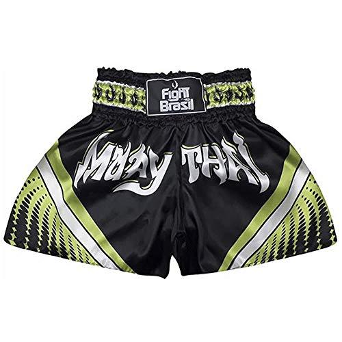 Short Calção Muay Thai - Athrox - Pre/Verde - GG