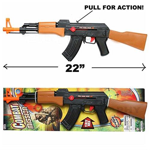 AK-47 TOY ASSAULT RIFLE KID BOY MACHINE GUN SOUND MILITARY ARMY CAR-15 M-16
