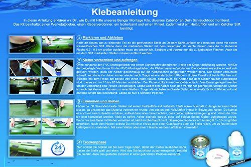 Klebeanleitung für Belly Boot PVC Kleber
