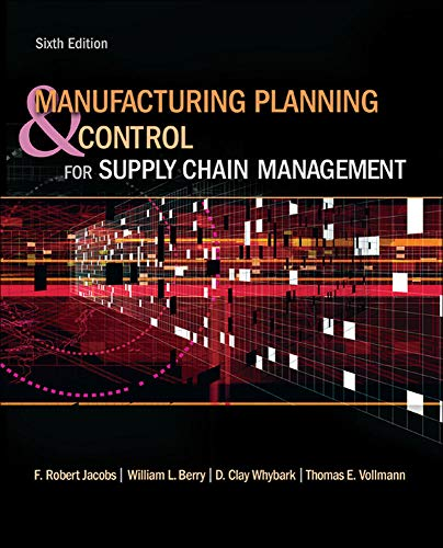 Manufacturing Planning and Control for Supply Chain...