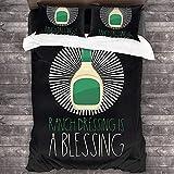 Vegan – Ranch Dressing is A Blessing Parure de lit 3 pièces 216 x 178 cm Super douce et chaude Parure de lit Queen avec 2 taies d'oreiller