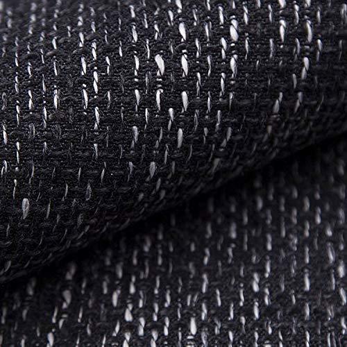 NOVELY® LANZ Premium Möbelstoff | Schwerer Webcharakter | grob gewebter Polsterstoff | Meterware | Struktur-Stoff | 15 Farben (06 Anthrazit)