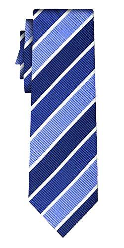 Cravate soie rayée wide tex stripe blue