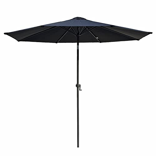 Le Papillon 8 Feet Market Patio Umbrella Outdoor Umbrella Aluminum with  Crank and Push Bottom Tilt - Black Patio Umbrellas: Amazon.com
