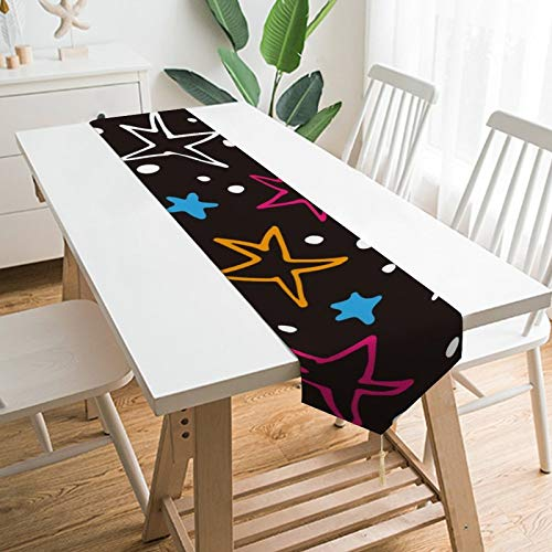 by Unbranded 70' x 13' Table Runners, Cosmos Milky Way Space Galaxy Stars, Table Decoration for Wedding, Table Linen Layout, Decorations Outdoor Picnics Dining Table