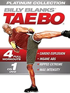 Tae Bo Platinum Collection 4 Workouts in 1 DVD: Cardio Explosion, Insane Abs, Ripped Extreme , Max Intensity - Billy Blanks - region 0 Worldwide by Billy Blanks