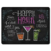 Happy Hour - Large Glass Cutting Board [並行輸入品]