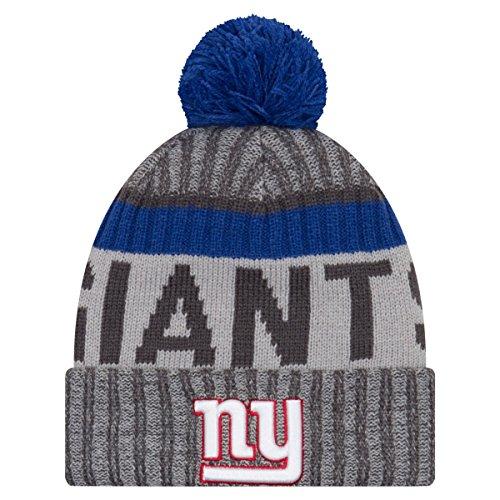 New Era NFL SIDELINE 2017 Bobble Mütze - New York Giants