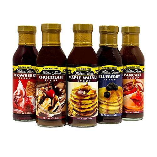 Walden Farms Sirup Syrup Kalorienfrei NEU TESTPAKET mit 5 Geschmäckern (5x 355ml)