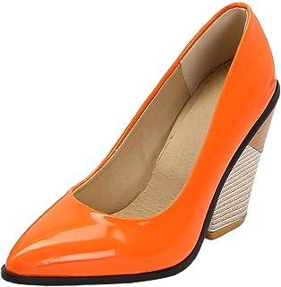 Scarpe Sposa Arancioni.Amazon It Arancione Scarpe Col Tacco Scarpe Da Donna Scarpe