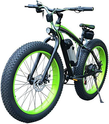 Qinmo Bicicletta elettrica, Bici elettrica, 36V / 350W Mountain Bike 26 * 4Inch Fat Tire Moto 7 Costi Ebikes for Adulti con 10Ah Batteria