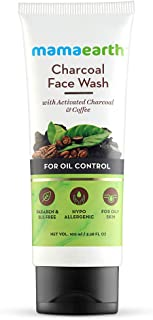 Mamaearth Charcoal Face Wash with Activated Charcoal & Coffee for Oil Control (100)