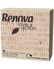Renova Servilletas de Papel Love & Action - 90 Servilletas Eco Tamaño Estándar