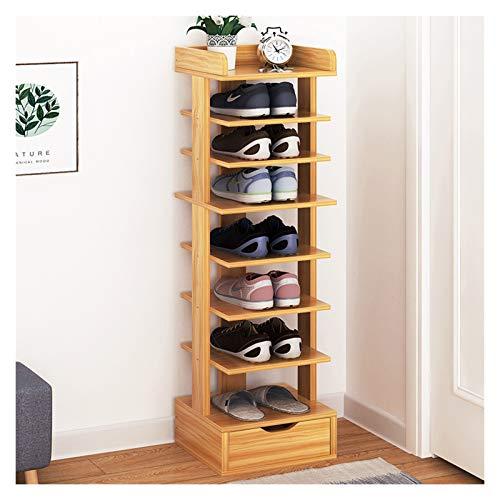 Almacenamiento de zapatos La entrada de zapatos autoportante en rack for ahorrar espacio simple de 8 pisos zapatero, multi-funcional diseño de almacenamiento en rack Inicio con cajón Zapatero