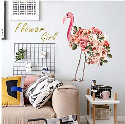 Behang muurschilderingen Flamingo verse moderne kast kast tegel wc muur Sticker