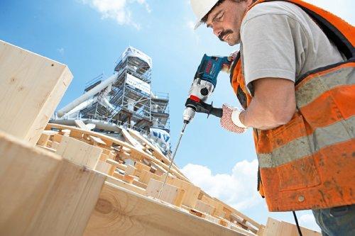 Bosch Professional Perceuse-visseuse à Percussion GSB 21-2 RCT (Diamètre de Perçage dans Béton : 13-22 mm, 1300 W, Mandrin Automatique : 13 mm, Butée Profondeur : 210 mm, Poignée Supplément, Coffret)