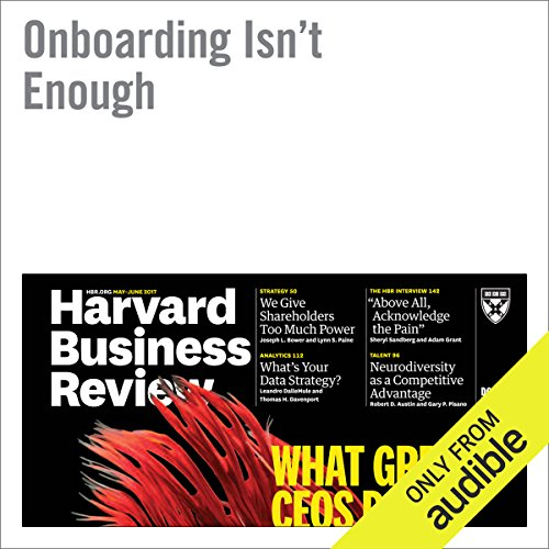 Onboarding Isn't Enough audiobook cover art