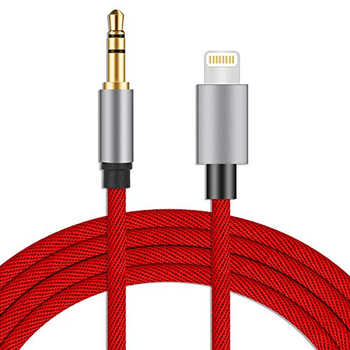 Aux Cord for iPhone, Vcddom Premium Nylon 3.5mm Aux Cable Compatible with iPhone 11/X/7/8/Xs/Xr/XS Max/iPad 3.3ft for Car, Speaker, Home Stereo and Headphone