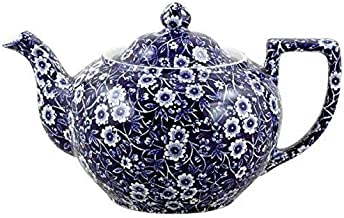 blue calico teapot
